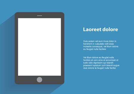 Tablet-computer met blak scherm. Stock Illustratie
