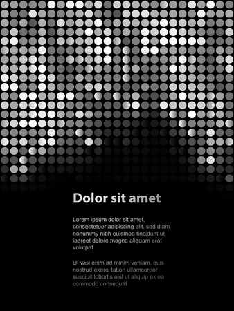 Shiny background with sequins. Template for your design. Can be used for business cards, presentations, banners