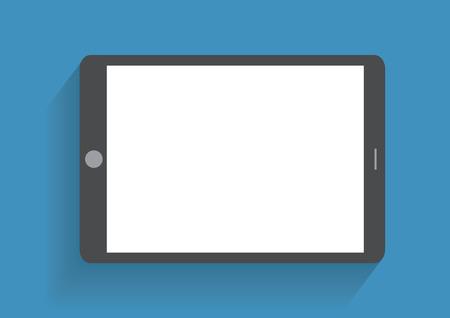 Tablet computer met een leeg scherm. Met behulp van digitale tablet-pc vergelijkbaar met ipad, platte design concept. Eps 10 vector illustratie