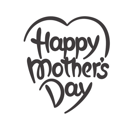 Happy mothers day hand-drawn lettering Stock Illustratie