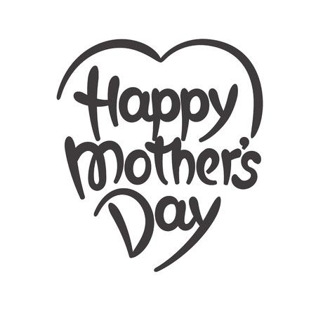 Gelukkige moederdag handgetekende letters