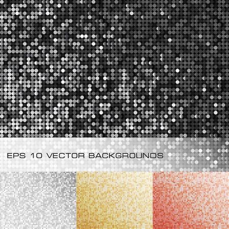 Set of sparkle sequin backgrounds. Illustration