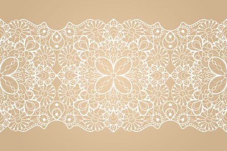Seamless lace ribbon Vectores