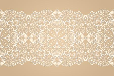 Seamless lace ribbon Vettoriali