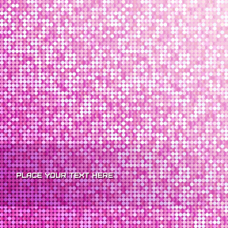 Seamless background with shiny pink paillettes.