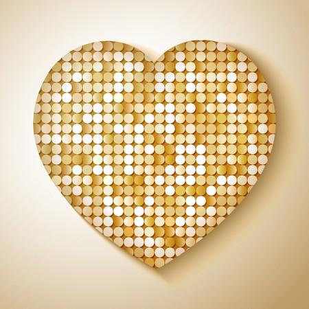 paillette: Shiny sequins heart. Eps 10 vector illustration
