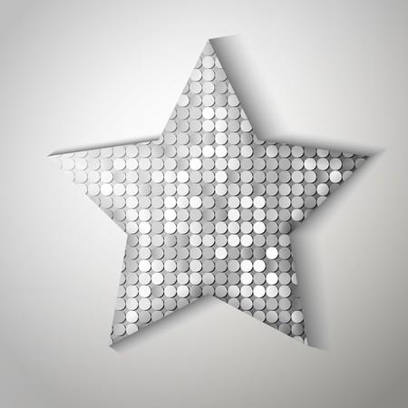 sequin: Shiny sequins star. Eps 10 vector illustration