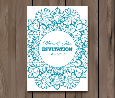 wedding table decor: Wedding invitation, card template.