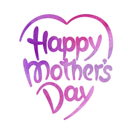 Happy mothers day hand-drawn lettering. Template for greeting card  イラスト・ベクター素材