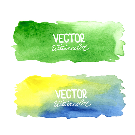 Watercolor banners.