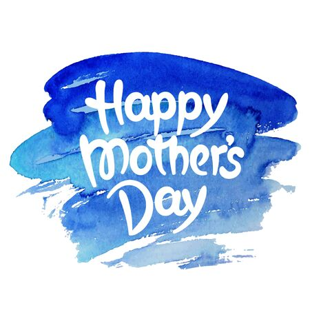 Happy mothers day hand-drawn lettering. Template for greeting card Illusztráció