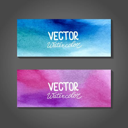 ombre: Watercolor banners. Abstract background with watercolor splash. Illustration