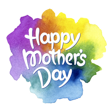 Happy mothers day hand-drawn lettering. Template for greeting card Illustration