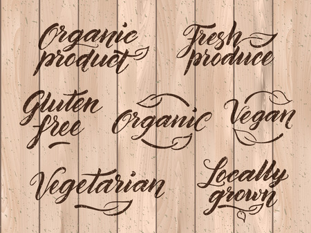 styled: Retro styled healthy food letterings.