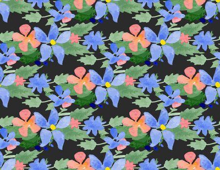 rosas negras: Patrón sin fisuras con flores de la acuarela. Illustrator muestra con el fondo transparente incluido. Grande para la boda y las invitaciones del cumpleaños, tarjetas Día de la Madre, fondos de escritorio, envoltorios.