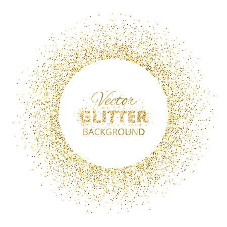 Contexte de fond avec cadre de cercle brillant doré Vecteurs