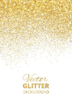 Illustration vectorielle de confettis glissant, poussière dorée. Fe Vecteurs
