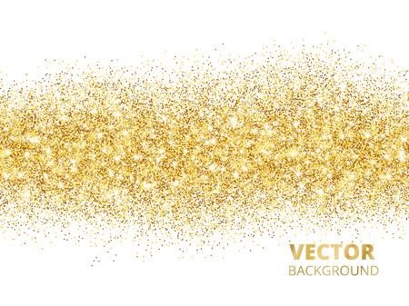 Sparkling glitter border isolated on white. Festive background w Stock Illustratie