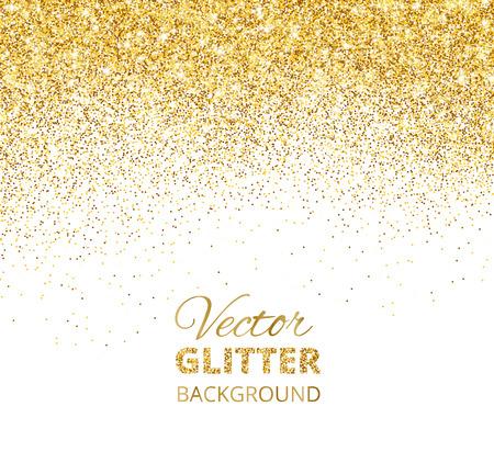 Une illustration vectorielle des confettis brillants tombants, des poussières dorées. Vecteurs