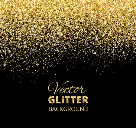 A Vector illustration of falling glitter confetti, golden dust.