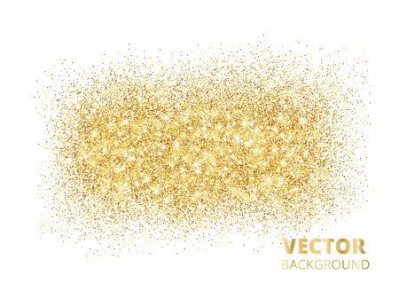 Sparkling glitter texture isolated on white background, vector g