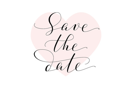 save the date card wedding invitation template hand written