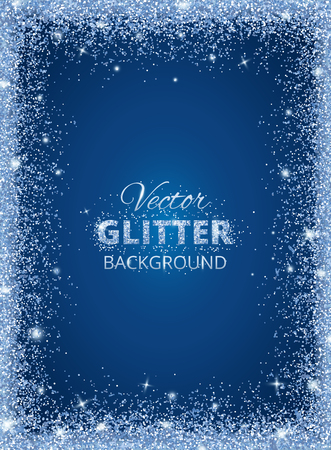 Shiny background with glitter frame and space for text Illustration