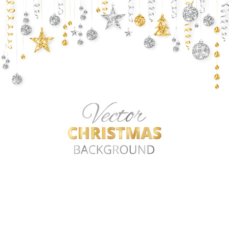 Merry Christmas greeting card template. Illustration