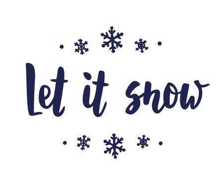 Let it snow banner. Vektoros illusztráció