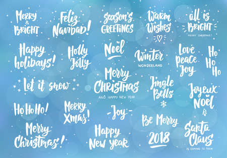 Set of holiday greeting quotes and wishes hand drawn text great set of holiday greeting quotes and wishes hand drawn text great for cards m4hsunfo