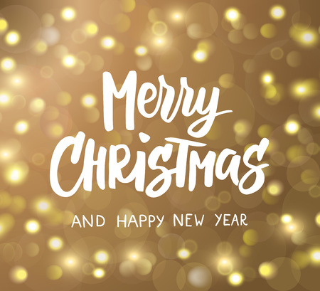 Merry christmas and happy new year hand drawn text holiday merry christmas and happy new year hand drawn text holiday greetings quote golden glowing m4hsunfo