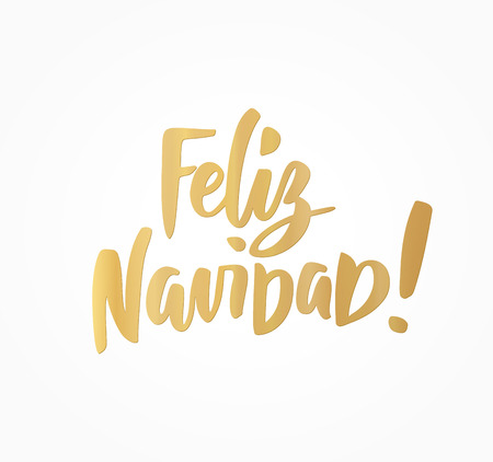 Feliz Navidad, Merry Christmas spanish text. Great for Christmas cards, gift tags and labels.