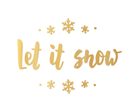 Let it snow card. Hand drawn lettering. For Christmas and New Year banners, posters, gift tags and labels. Illusztráció