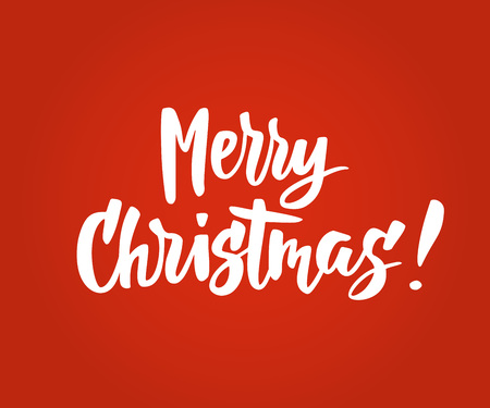 Merry Christmas card. Hand drawn lettering. Great for gift tags and labels.