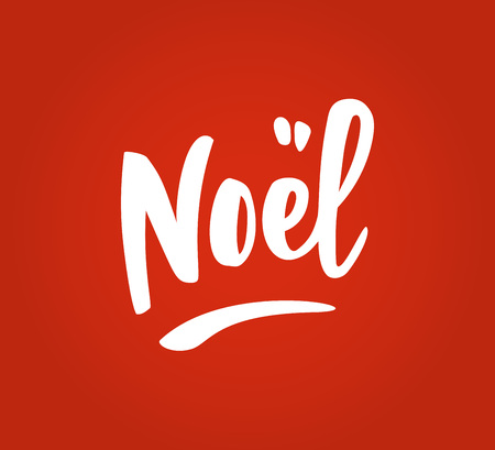 Noel hand drawn letters on red background. Great for Christmas gift tags and labels