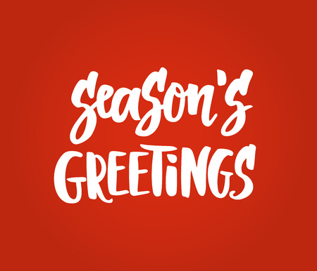 Seasons greetings card. Hand drawn lettering. Great for Christmas gift tags and labels