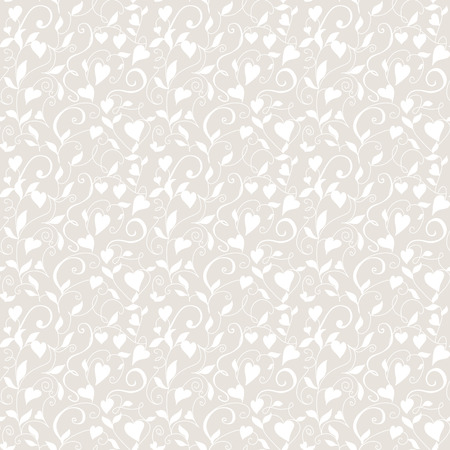 Seamless love background, wedding floral pattern with hearts Stock fotó - 114740766