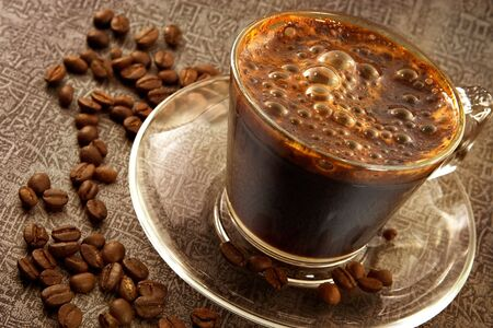 Fresh hot sweet coffee-excellent invigorating drink since morning