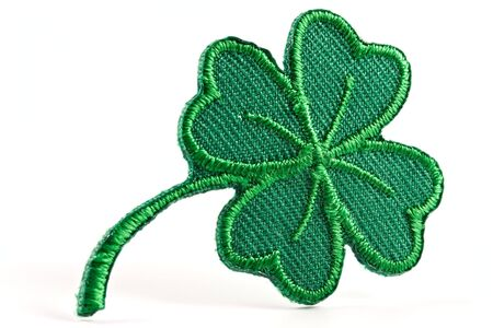 Four leaf green clover-skilful manual silk embroidery