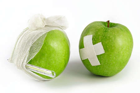 habits: Public health services-opposition of a healthy way of life to illnesses and bad habits Stock Photo