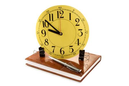 puntualidad: Concepto de la puntualidad y de la exactitud de la persona de la oficina de negocio
