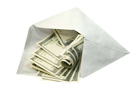 envelope: Dollars in an envelope-concept of a prosperity and riches