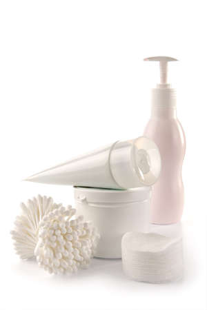 neatness: White spa and hygiene accessories-faultless cleanliness, freshness and neatness Stock Photo