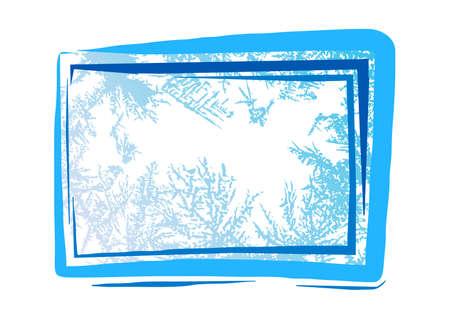 Natural hoarfrost grunge background-design element for christmas illustrations illustration