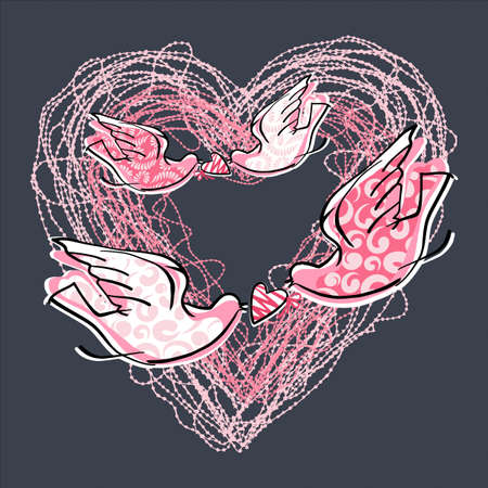 Love Heart-graphic element symbolizing the romance and passion of a sentimental person photo