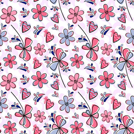 flit: Seamless floral pattern-gentle atmosphere of a spring mood and love
