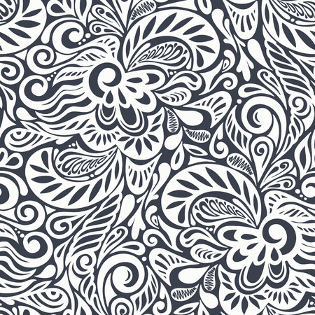 Seamless abstract curly floral pattern-model for design of gift packs, patterns fabric, wallpaper, web sites, etc.