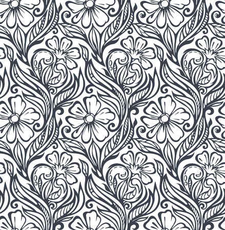 Seamless floral pattern-delicate interlacing branches of flowers and buds,model for design of gift packs, patterns fabric, wallpaper, web sites, etc.