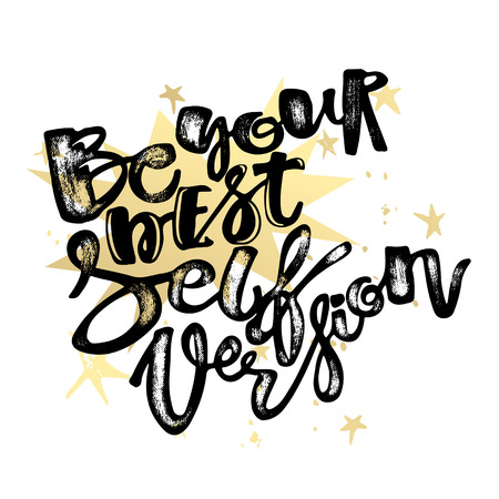 Be yourself Lettering  motivation poster. Handdrawn sign, greeting cards, invitations, posters, banners, t-shirts. Artistic design, beautiful modern expressive calligraphy.