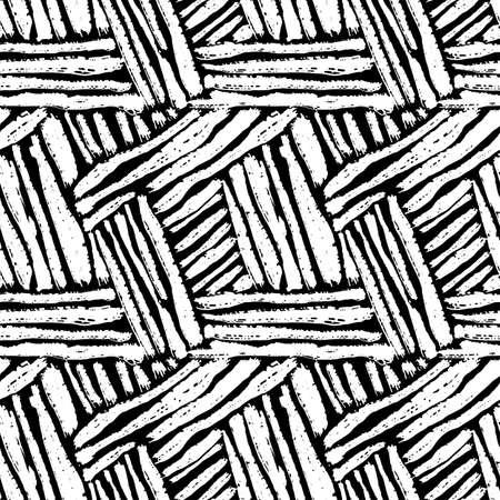 Naadloze borstelpen doodle patroon grunge texture.Trendy modern inkt artistiek ontwerp met authentieke en unieke schrape, waterverf blotted achtergrond voor een logo, kaarten, uitnodigingen, posters, banners.